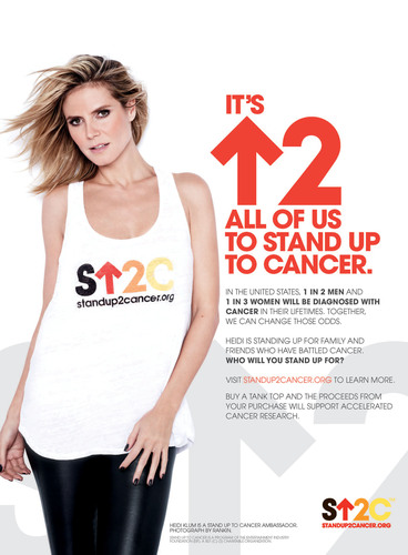 Heidi Klum Strikes a Pose for Cancer Research in Second Stand Up To Cancer Public Service