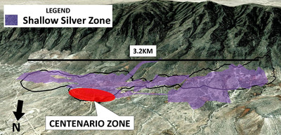 """Silver Bull Intersects 51.8G/T Silver Over 109.4 Meters to Further Extend the New """"Centenario"""" Discovery at the Sierra Mojada Project, Coahuila, Mexico."""