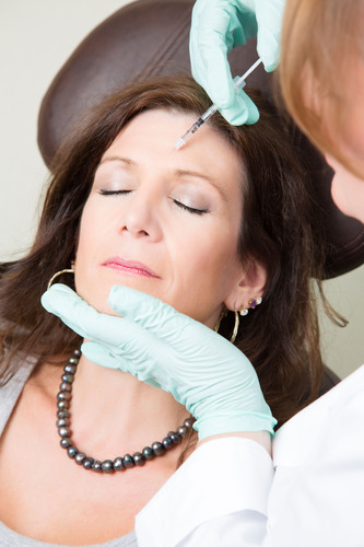 """A """"liquid facelift"""" for a younger and refreshed appearance can be done over a lunch hour and avoids the  ..."""