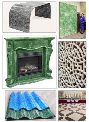 Wide range of SISTROM products - from small lacy tiles to big slabs. Numerous products - one technology, one SISTROM-concrete. (PRNewsFoto/SISTROM)