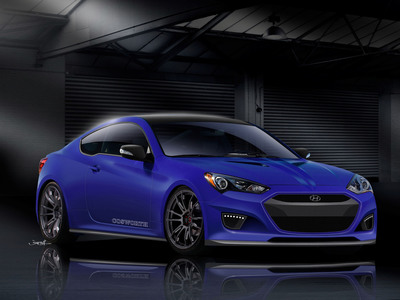 Cosworth Develops Ultimate Performance Hyundai Genesis Coupe Concept for 2012 SEMA Show.  (PRNewsFoto/Hyundai Motor America)