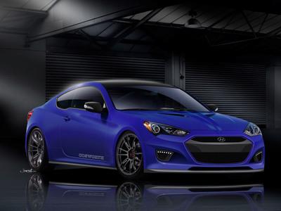 Cosworth Develops Ultimate Performance Hyundai Genesis Coupe Concept for 2012 SEMA Show.  (PRNewsFoto/Hyundai Motor America)