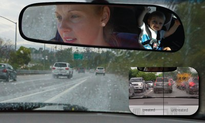 EnduroShield Windshield Rain Repellent improves visibility by around 34% in wet weather