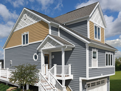 The featured house showcases new AZEK Siding, astate-of-the-art, proprietary formula offering best-in-class installation,integrated water management, superior aesthetics and durability.