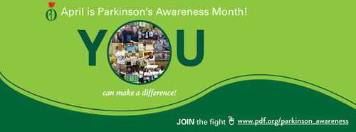 Get Involved with the Parkinson's Disease Foundation during April's Parkinson's Awareness Month.  (PRNewsFoto/Parkinson's Disease Foundation)