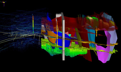 2D and 3D seismic data, structural interpretation and model in one integrated display.  (PRNewsFoto/Paradigm)