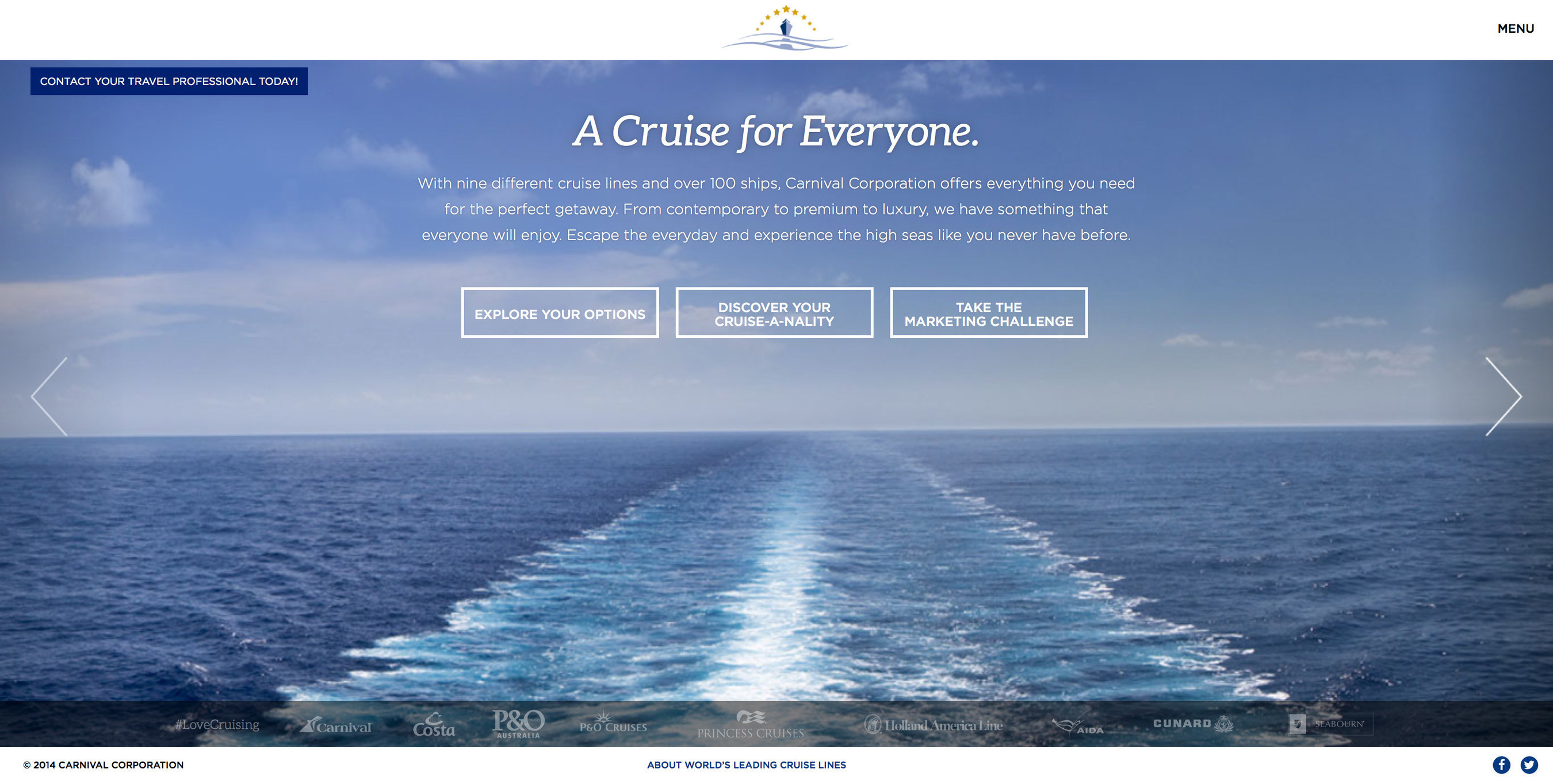 Carnival Corporation's newly redesigned World's Leading Cruise Lines website - ...
