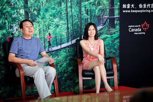 'Canada - You Can Be a Star' Winners Sun Dong and His Daughter Sun Shuo from Beijing.  (PRNewsFoto/Canadian Tourism Commission)