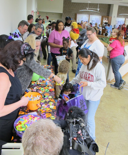Pediatric patients loaded up on treats and fun during a special Halloween parade inside St. Joseph's ...