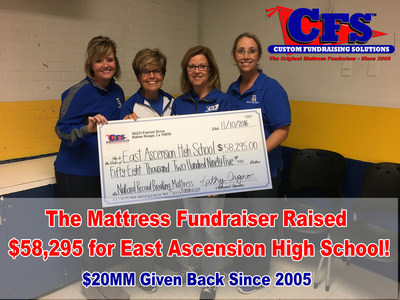 The Mattress Fundraiser Raised $58,295 for East AscensionHigh School in One Day