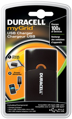 Duracell myGrid USB Charger.   (PRNewsFoto/Procter & Gamble)