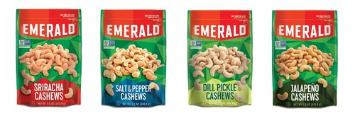 Emerald(R) Nuts Launches New Dill Pickle, Jalapeno, Sriracha, and Salt & Pepper Cashews