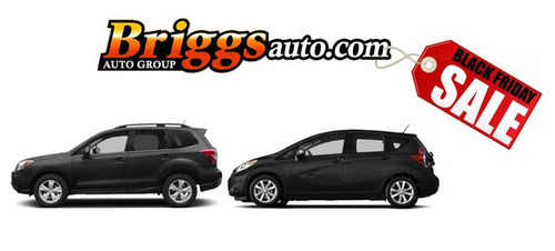 The Briggs Auto Black Friday Sale will feature savings on a variety of makes and models.  (PRNewsFoto/Briggs Auto Group)