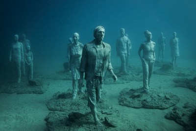 Lanzarote's underwater Museum sculptures (PRNewsFoto/Canary Islands Tourism Board)