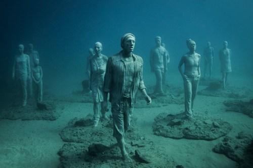 Lanzarote's underwater Museum sculptures (PRNewsFoto/Canary Islands Tourism Board) (PRNewsFoto/Canary ...