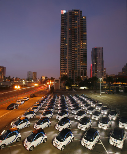 car2go brings North America's first all-electric carsharing network to San Diego.  (PRNewsFoto/car2go N.A.,  ...