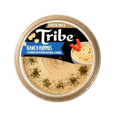 Tribe's new Ranch Hummus blends the popular taste of ranch with the creamy texture of traditional hummus to create a smooth, dairy-free dip that is the perfect complement to any baby carrot, celery stalk, broccoli top or pita chip.