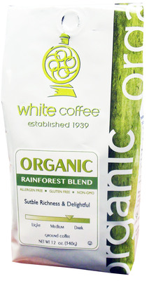 White Coffee's Natural and Organic lines are available in retail outlets nationwide. For more information, please contact (800) 221-0140.  (PRNewsFoto/White Coffee Corporation)
