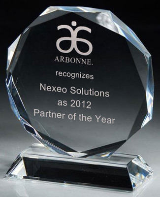 Nexeo Solutions Receives Arbonne/Levlad's 2012 Partner of the Year Award.  (PRNewsFoto/Nexeo Solutions)