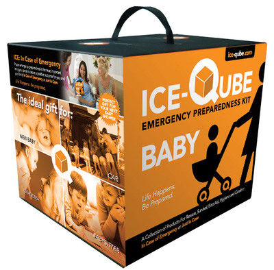 New Ice-Qube Baby Emergency Kit for Baby in case of emergency or just in case. Available at ice-qube.com, babiesrus.com and buybuyBaby.com.  (PRNewsFoto/Ice-Qube)