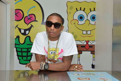 Nickelodeon and Pharrell Williams Debut SpongeBob X ICECREAM Capsule Collection.  Photo:  Eugene Gologursky/Nickelodeon (C)2013 Viacom International, Inc.  All Rights Reserved.  (PRNewsFoto/Nickelodeon, Eugene Gologursky)