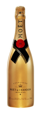 Gold Awards Season Moet & Chandon Imperial bottle.  (PRNewsFoto/Moet & Chandon)
