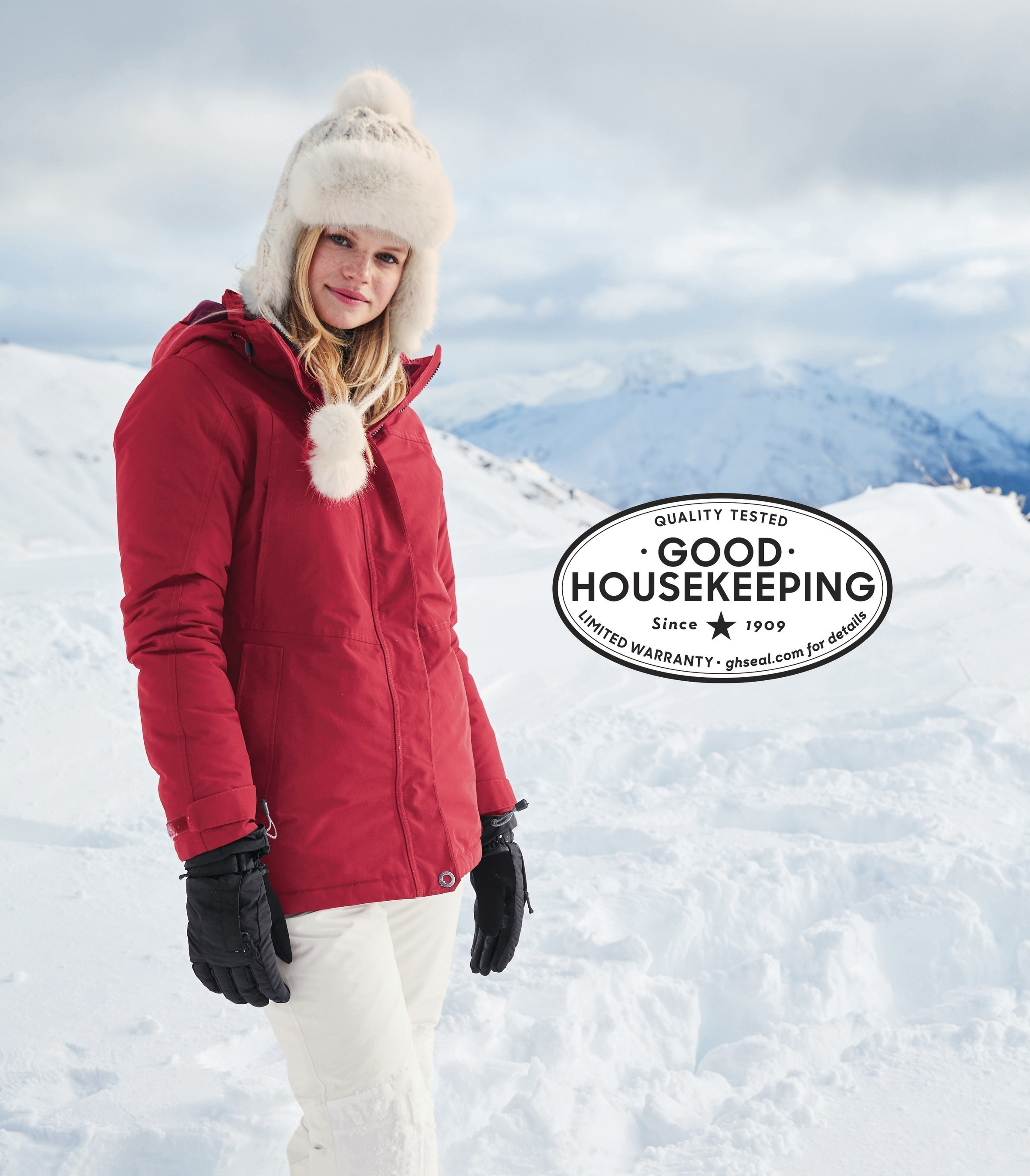 The Lands' End Squall Parka has earned the coveted Good Housekeeping Seal, one of the most recognized consumer emblems in the world.  With its waterproof and windproof features, the Lands' End Squall Parka provides guaranteed protection when winter comes full force.  Available at www.landsend.com.