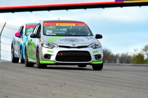 Kinetic Motorsports Captures First Win in Forte Koups at Canadian Tire Motorsports Park. (PRNewsFoto/Kia Motors  ...