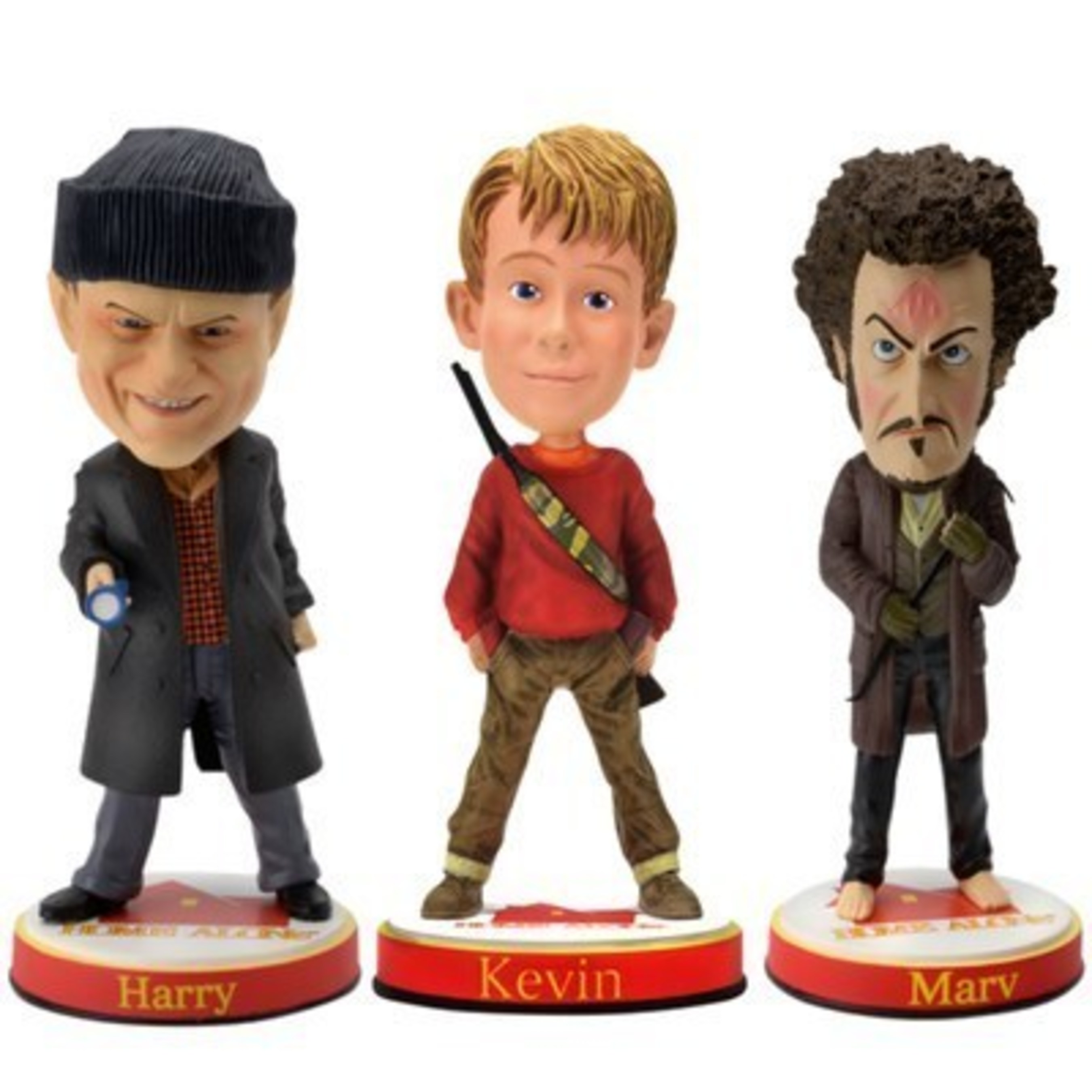 Kevin, Harry and Marv Bobbleheads from the National Bobblehead HOF and Museum