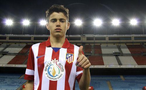 Atlético Madrid's new jersey, featuring the Baku 2015 logo (PRNewsFoto/Baku 2015)