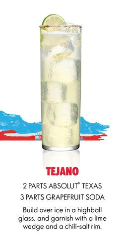 Absolut Texas Tejano Recipe.  (PRNewsFoto/Pernod Ricard USA)