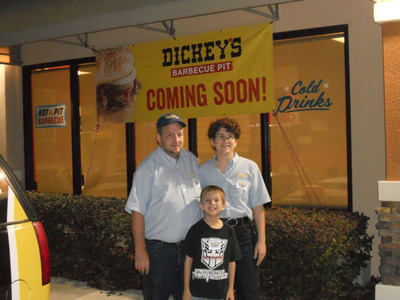 Hughes family is excited to be opening Dickey's location in Oviedo, FL.  (PRNewsFoto/Dickey's Barbecue)