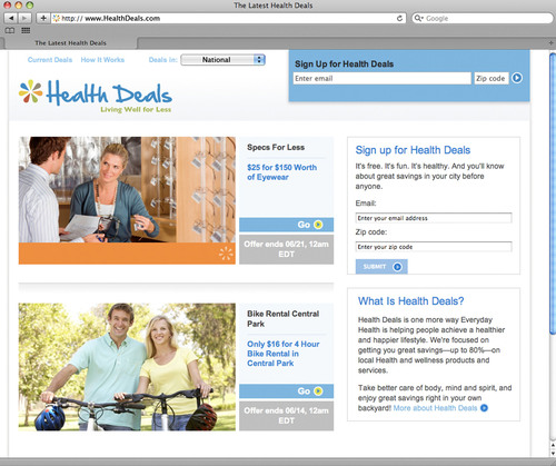 Everyday Health, Inc. Introduces 'Health Deals' Online Deal Site; First Solely Dedicated to Health & ...