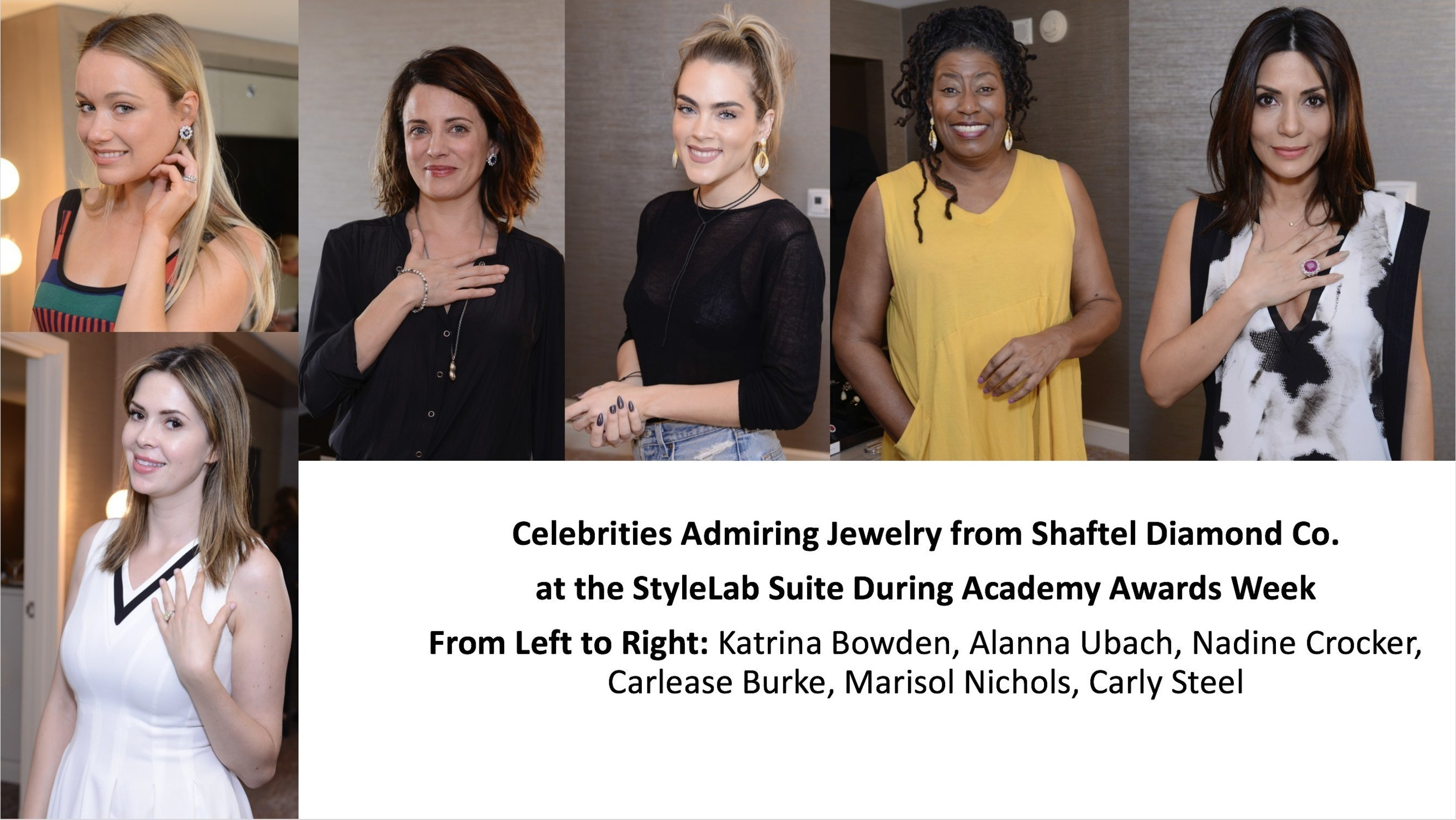 COUNTDOWN TO THE OSCARS: Celebrities and their Stylists Previewed Jewelry from Shaftel Diamond Co.