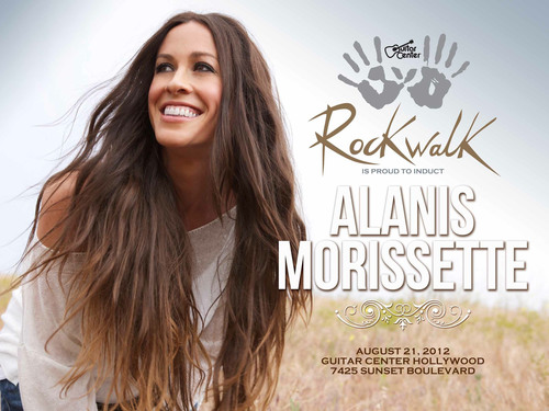 Alanis Morissette to be Inducted into Guitar Center's Historic RockWalk.  (PRNewsFoto/Guitar Center)
