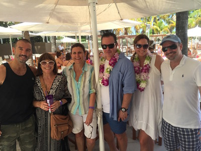 Alma's Executive Board (from left to right): Alvar Sunol, Marta Insua, Angela Battistini, Luis Miguel Messianu, Michelle Headley, and Isaac Mizrahi at Alma's Summer celebration.