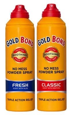 Gold Bond Spray.  (PRNewsFoto/Gold Bond)