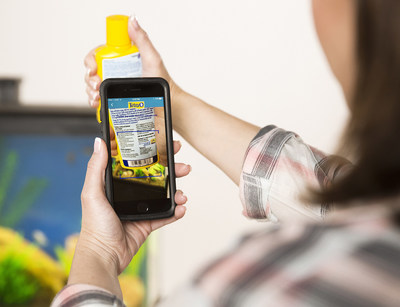 Use the My Aquarium App to scan products into the app, allowing you to track inventory of supplies.
