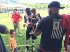 Veterans and family members were invited to M&T Bank Stadium for day two of the Baltimore Ravens' training camp as part of a Wounded Warrior Project gathering.