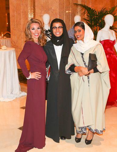 Amanda Gutkin, Noura Al Kaabi and Sheikha Alia Al Qassimi (PRNewsFoto/Farfetch and Style_com_Arabia)