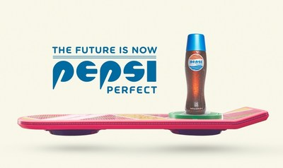 Pepsi unveils a series of themed advertisements in celebration of Pepsi Perfect and the 30th anniversary of Back to the Future.