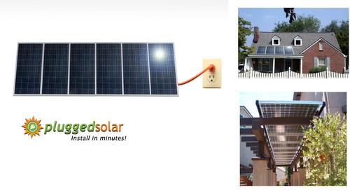 PluggedSolar installed on Ground, Roof & Patio. (PRNewsFoto/PluggedSolar)