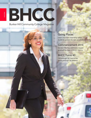 Fall 2014 award-winning issue of BHCC Magazine.