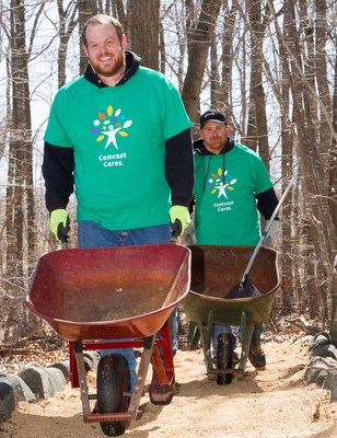 "More than 650 local Comcast NBCUniversal employees and their families, friends and community partners will ""make change happen"" as they volunteer to improve eight sites across Connecticut as part of the 15th annual Comcast Cares Day."