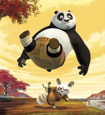 Po and Master Shifu in Kung Fu Panda on Nickelodeon. Credit: Nickelodeon.  (C) 2011 Viacom International, Inc.  All Rights Reserved.  (PRNewsFoto/Nickelodeon)