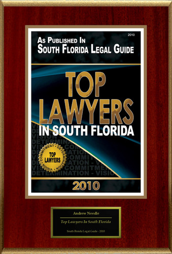 Andrew Needle Selected for 'Top Lawyers In South Florida'