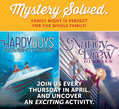 Ryan's, HomeTown Buffet and Old Country Buffet celebrate the relaunch of the classic children's mystery books with Nancy Drew Diaries and the Hardy Boys Adventures this April.  (PRNewsFoto/Ovation Brands)