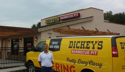 Owner/Operator Ryan Wenrich opens Dickey's Barbecue Pit in Kansas City on Thursday