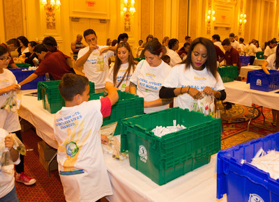 On Saturday, October 1, Las Vegas Sands hosted its third annual hygiene kit build with nonprofit organization Clean the World in Las Vegas.  More than 600 community volunteers and team members from The Venetian, The Palazzo and Sands Expo Center worked together to build 35,000 hygiene kits to benefit people in need in the Las Vegas community.  Las Vegas Sands will host build events at all of its properties globally in 2016 to build a total of 100,000 kits for Clean the World.