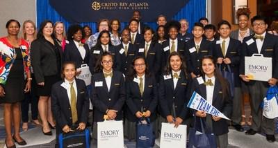 Cristo Rey Atlanta students and their new employer, Emory Healthcare.